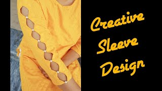 Creative sleeve design Cutting and Stitching