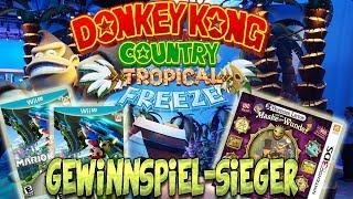 Gewinnspiel Sieger des Donkey Kong Country Tropical Freeze Nintendo Gewinnspiel + Idle Animations