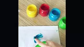 Пищевые пальчиковые краски своими руками, рецепт, готовим сами