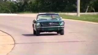 1965 mustang green convertible