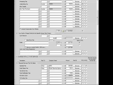 Calyx point brokered fee sheet - YouTube
