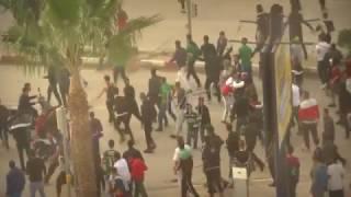 اعتداءات مشجعي مولودية بجاية على مناصر مولودية وهران البارحة - 18/11/2016