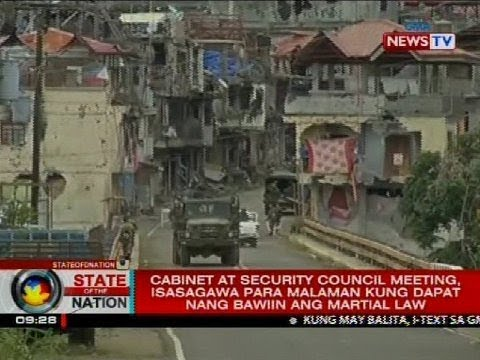 Cabinet at security council meeting, isasagawa para malaman kung dapat nang bawiin ang martial law