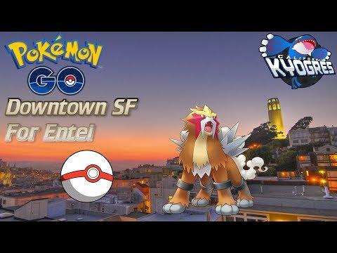 PokemonGo Vlog- Downtown San Francisco Raiding For Entei!!!