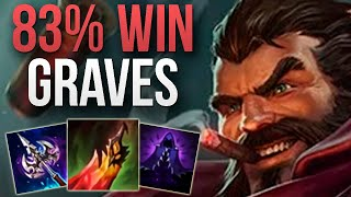 CHALLENGER 83% WIN RATE GRAVES MAIN! | CHALLENGER GRAVES JUNGLE GAMEPLAY