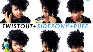 Natural Hair | A Twist Out, Side Ponytail To A Puff With Curls Blueberry Bliss Curl Control Jelly