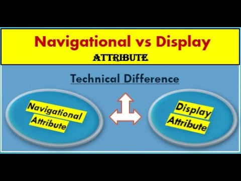 Difference between Navigational and display attribute in SAP BI