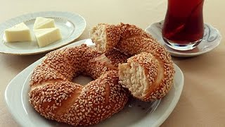 Sésamo Bagel turco de ajonjolí - Pan de anillo - Receta de roscón