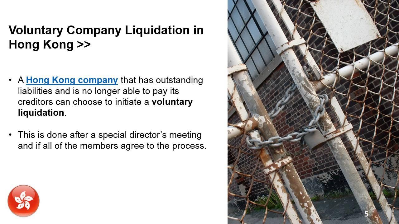 Liquidating a company in hong kong
