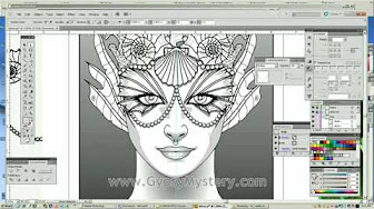 Magical Beauties Time Lapse Speed Draw Videos