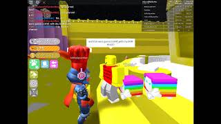 Dumb Scammer Tries To Scam My Golden Dominus Huge (Roblox Pet Simulator)