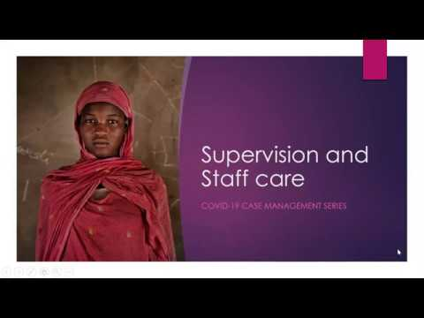 GBVIMS COVID-19 Series: Remote Supervision and Staff Care