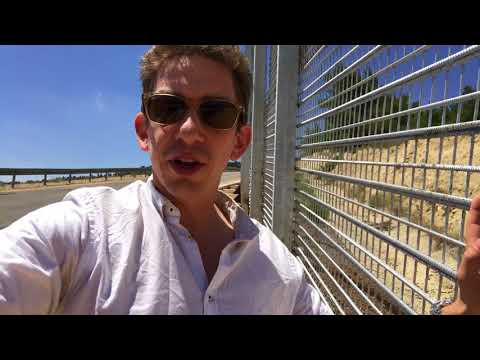 Walking the fence between Israel and Palestine outside of Jerusalem