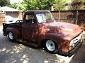 1955 Ford F100 LS1 First Start