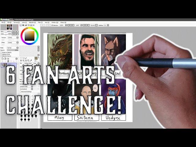 6 FANARTS CHALLENGE! - Speedart du défi complet commenté FR
