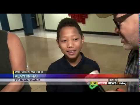 WCCB Wilson's World with OneWorld Stories at Albemarle Road Middle School in Charlotte, NC