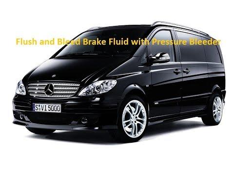 W639 Mercedes Vito Viano Bleed Brakes Pressure Bleeding Vacuum Bleed