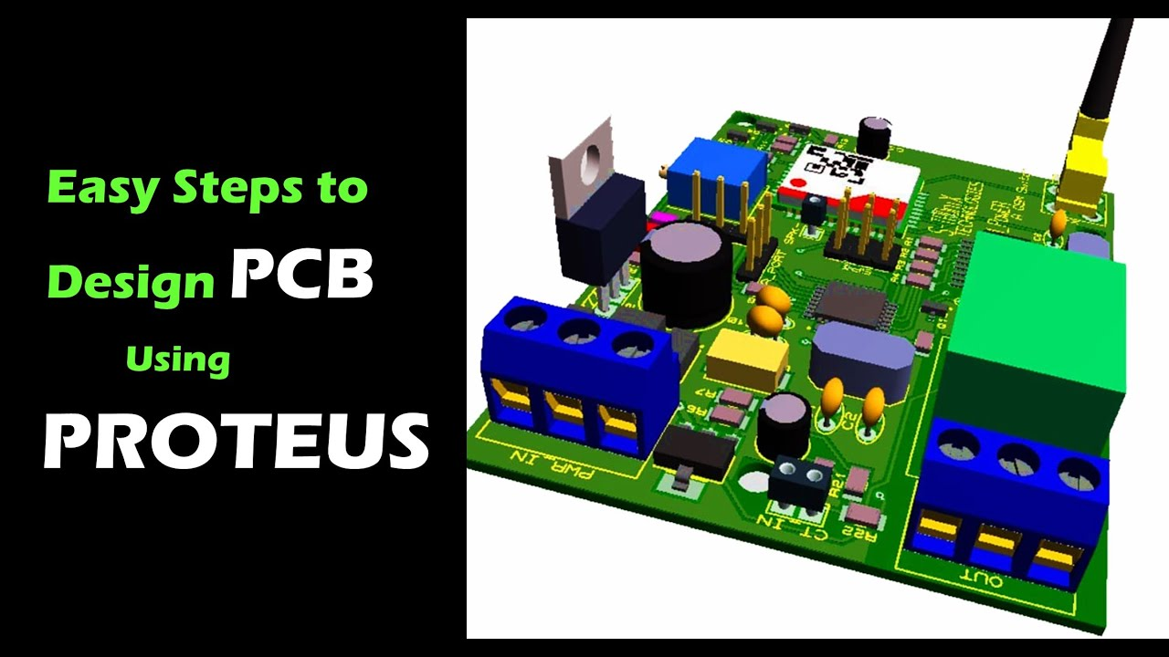 How to design PCB Layout using Proteus in few minutes| Easy steps to ...