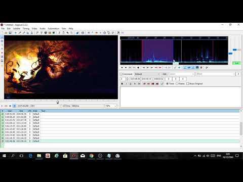 Making karaoke lyrics and adding effect with AegiSub