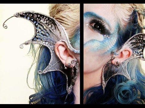 Diy Wire Mermaid Ears Youtube Rh Com Ear Template Little
