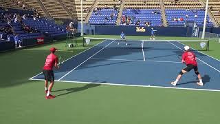 02 27 2018 USC Vs UCLA men's #1 tennis doubles