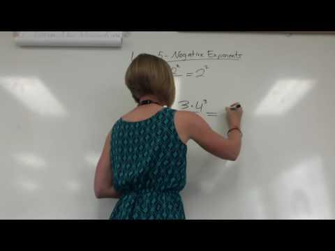 Negative Exponents & Proofs (Unit 1 Lesson 5-6)