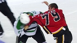 Gotta See It: Fists Fly After Flames' Ferland Crushes Seguin