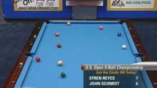 Billiards US Open 9-Ball Championship: Efren Reyes v Schmidt