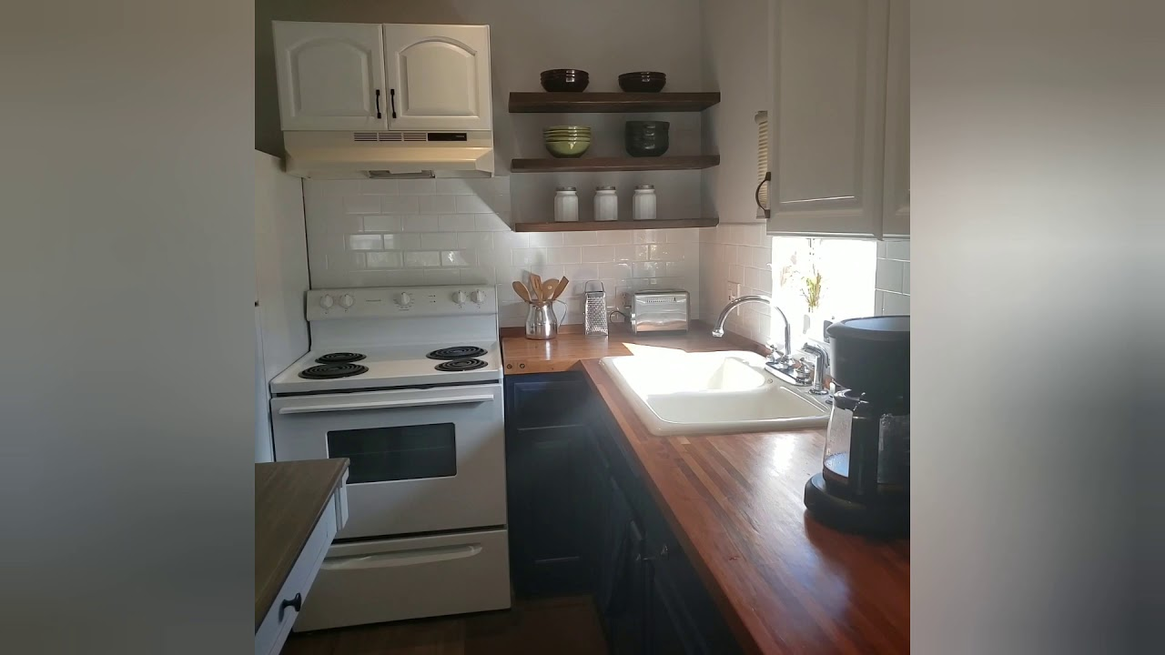Mobile home kitchen/living room REVEAL! (Mobile home ...