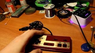 Переделка любого геймпада от денди/famicom для подключения к PC USB