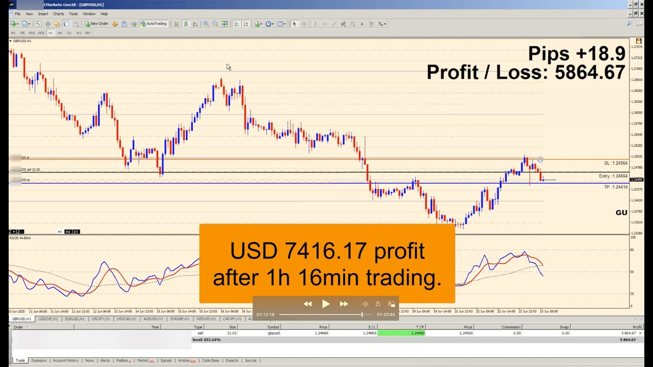 Quick $7400 profit with Agimat FX Ultra (live account).  Get your Free Lifetime License!