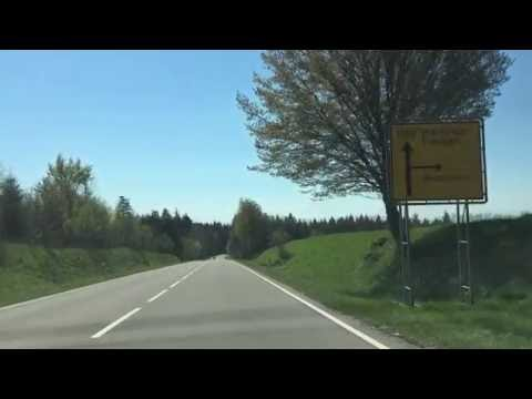 Driving in the German countryside.
