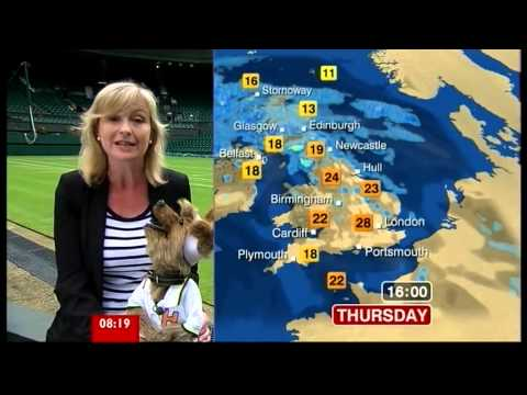Carol Kirkwood & Hacker T Dog do the weather (Breakfast, 28.6.12)