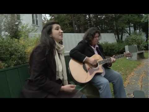 Zeb and Haniya in the Park Singing Live Bibi Sanam - Musicature