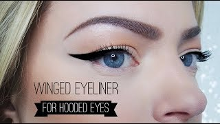 Winged eyeliner on hooded eyes - here's how!