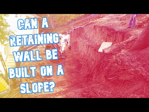 Excavation and Grading for Retaining Wall (time lapse)