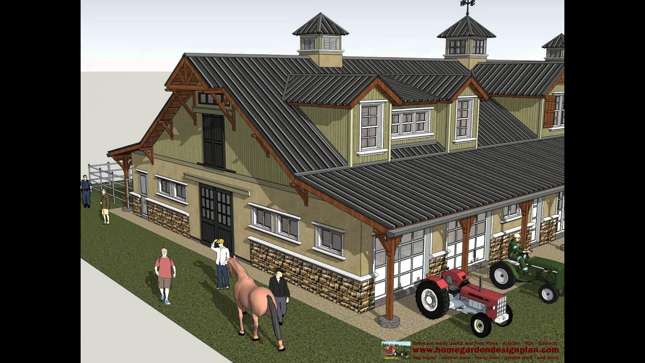 hb100 horse barn plans construction horse barn design horse stall design ideas - Horse Stall Design Ideas