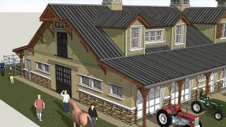 Hb100 - Horse Barn Plans Construction - Horse Barn Design