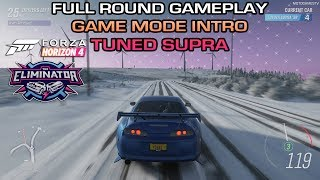 Forza Horizon 4 Full Round of The Eliminator | Tuned Toyota Supra Gameplay | Game Mode Intro [4K]