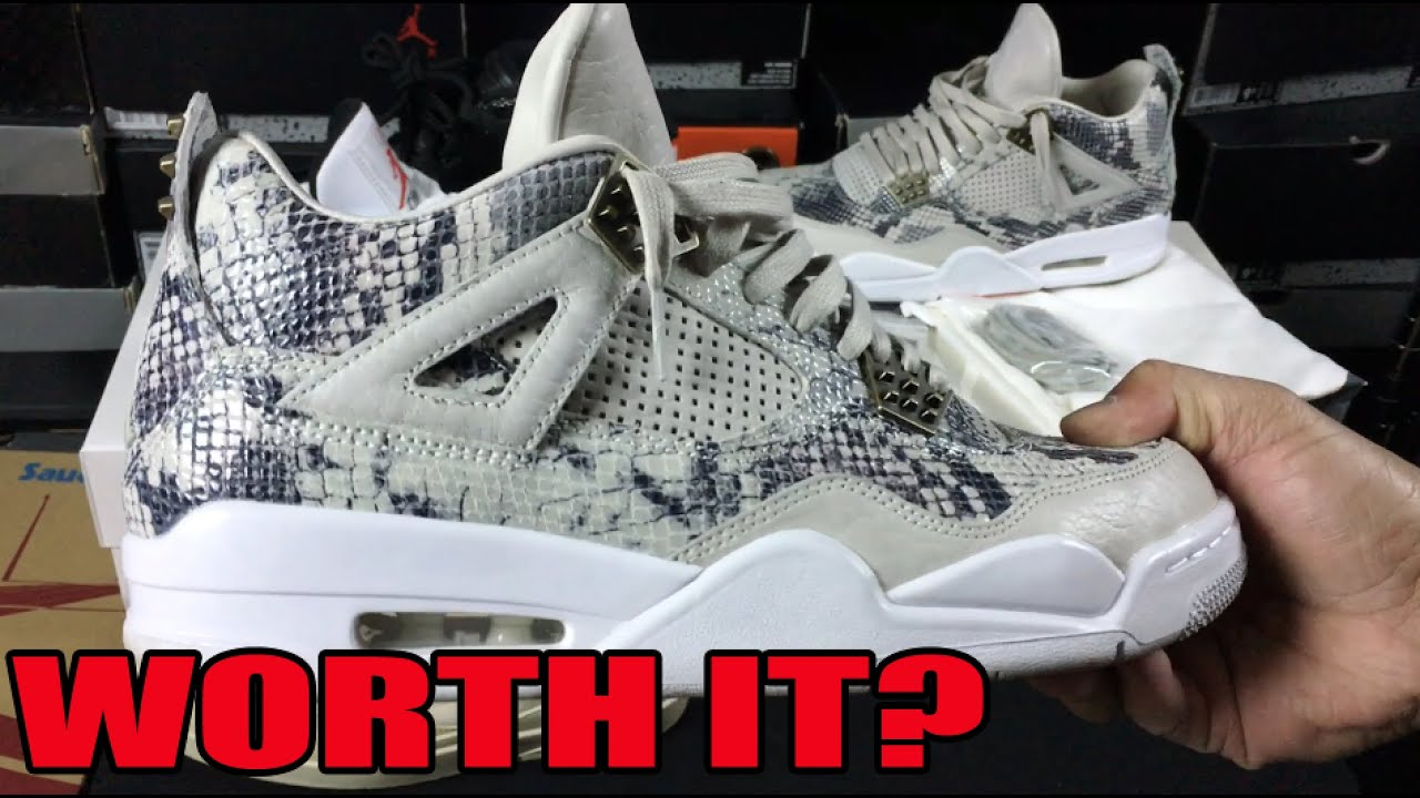 finest selection b4312 10a98 Air Jordan 4 IV Pinnacle Snakeskin Review