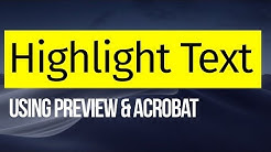 How to Highlight Text in PDF file on Mac | Preview & Acrobat | 2019 | macOS Mojave