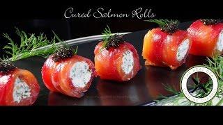 Cured Salmon Rolls / Amuse Bouche – Bruno Albouze
