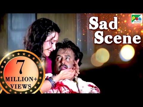 Rajnikanth Dies Saving Rekha | Sad Scene | Phool Bane Angaray | Hindi Film