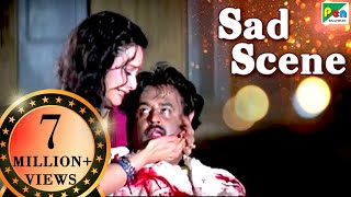 Rajnikanth Dies Saving Rekha | Sad Scene | Phool Bane Angaray | Hindi Film