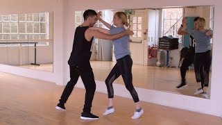 First Steps: Laura Whitmore and Giovanni Pernice - Strictly Come Dancing 2016 - BBC One