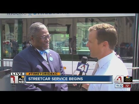 Mayor Sly James talks to Patrick Fazio about the first KC Streetcar ride