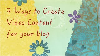 Web Video Tips: 7 ways to create video content for blogs and online courses(Go to http://www.sarkemedia.com/7-ways-create-video-content-blog/ to read the full blog post that goes with this video. This video outlines 7 different ways to ..., 2015-08-12T13:04:03.000Z)