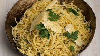 Easy Dinner Recipes, Spaghetti With Parsley & Parmesan, 4 Ingredients, Kim Mccosker