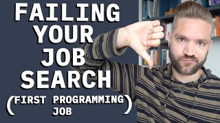 Common Job Hunt Mistakes (First Time Programmers)