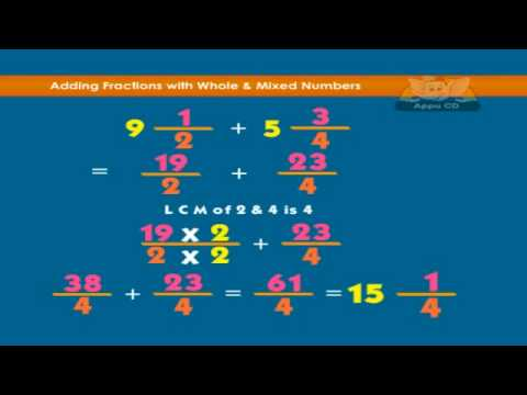 Learn Fractions - Adding and subtracting fractions with whole and ...